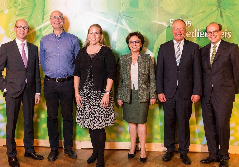 Die Laudatorinnen und Laudatoren zusammen mit Dr. Florian Block