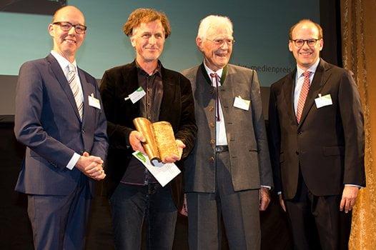 Preisträger Berndt Welz und Laudator Christoph Hofstetter, Otto Greither und Dr. Florian Block