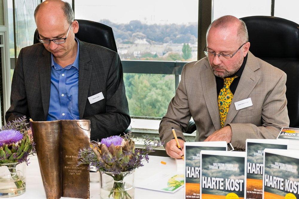 Preisträger Valentin Thurn und Stefan Kreutzberger