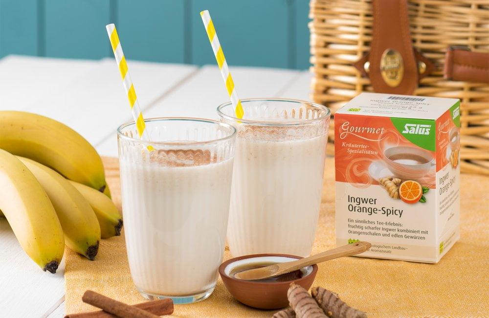 Bananen-Ingwer-Kurkuma Milchshake