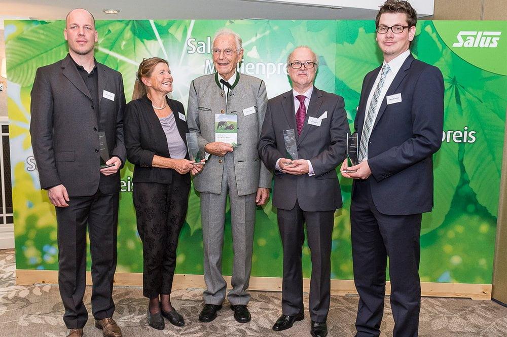 Die Preisträger 2013 zusammen mit Otto Greither