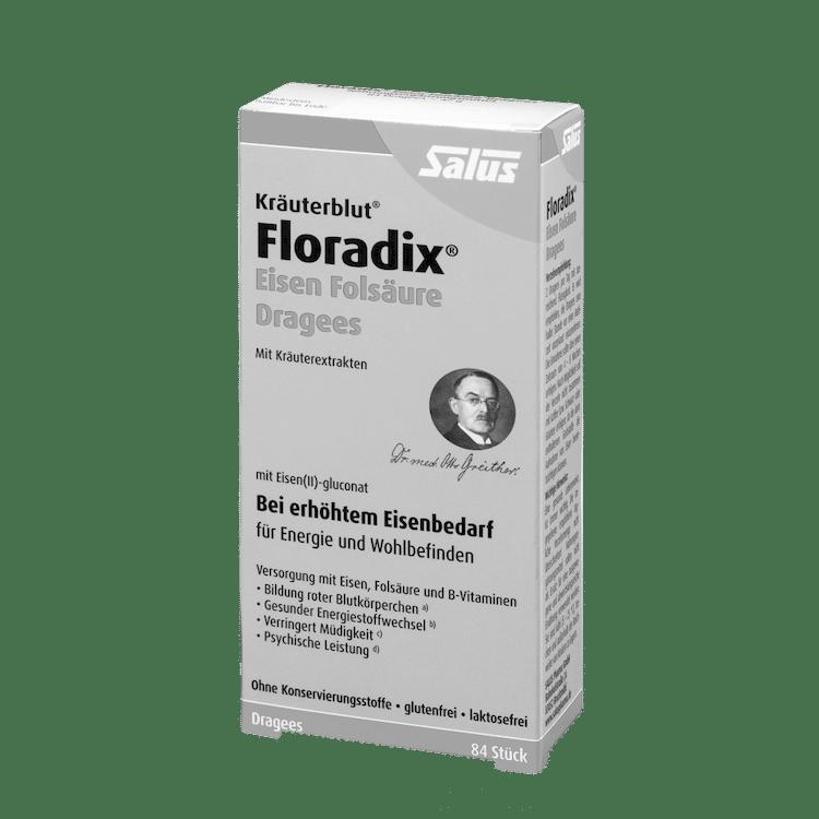 Salus® Kräuterblut® Floradix® Eisen Folsäure Dragees